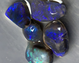 BLACK OPAL; 18 CTs Black Opal Rubs, Lightning Ridge Black Opals#392