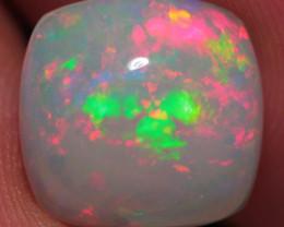 3.36 CT WhiteBase! Broad Patchwork Welo Ethiopian Opal - DA375