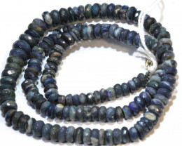 88 CTS  L RIDGE BLACK OPAL FACETED BEADS STRAND TBO-9273