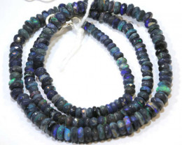 60 CTS  L RIDGE BLACK OPAL FACETED BEADS STRAND TBO-9277