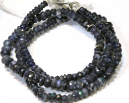 52 CTS  L RIDGE BLACK OPAL FACETED BEADS STRAND TBO-9289