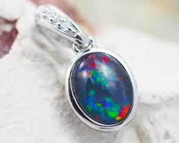 Australian Opal Triplet in Silver pendant OPJ 2140 B