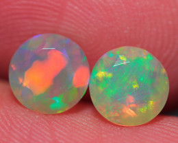 6X6 MM AAA QUALITY ETHIOPIAN CRYSTAL OPAL PAIR -ECF484