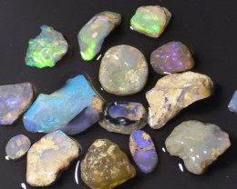 87.25 ct lightning ridge rough opals