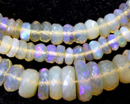 57 CTS  L RIDGE CRYSTAL OPAL FACETED BEADS STRAND TBO-9308