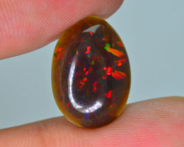 AIG Certified 2.91 ct Rainbow Fire Ethiopian Opal SkU-7