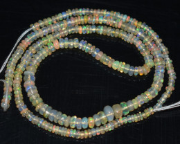 24.25 Ct Natural Ethiopian Welo Opal Beads Play Of Color