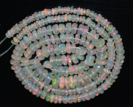27.80 Ct Natural Ethiopian Welo Opal Beads Play Of Color