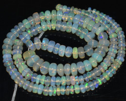 47.50 Ct Natural Ethiopian Welo Opal Beads Play Of Color