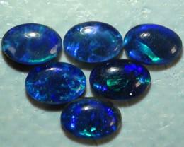 2.10 ct  6 Piece ct Blue Green Color Triplet Opal Parcel