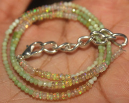 15 Crt Natural Ethiopian Welo Opal & chrysoprase Beads Necklace 27