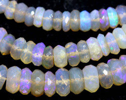 88 CTS  L RIDGE CRYSTAL OPAL FACETED BEADS STRAND TBO-9319