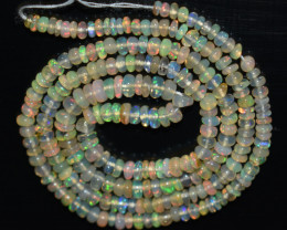 26.05 Ct Natural Ethiopian Welo Opal Beads Play Of Color