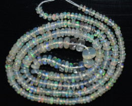 25.50 Ct Natural Ethiopian Welo Opal Beads Play Of Color