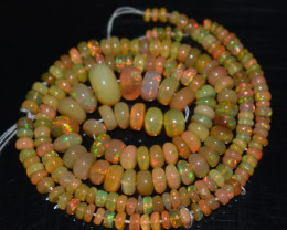 45.20 Ct Natural Ethiopian Welo Opal Beads Play Of Color