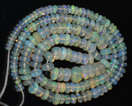 45.00 Ct Natural Ethiopian Welo Opal Beads Play Of Color