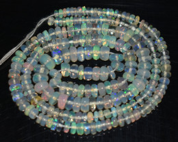 36.60 Ct Natural Ethiopian Welo Opal Beads Play Of Color
