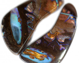 64.40 CTS BOULDER OPAL PAIR -TOP POLISH [BMA4767]