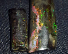 21.00 CRT FLOWER PLAY COLOR SPECIMENT INDONESIAN OPAL WOOD FOSSIL