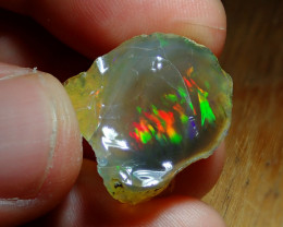 24.72cts Cutting  Rough Ethiopian Wello Opal Gamble Specimen