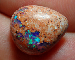 6.45ct Mexican Matrix Cantera Multicoloured Fire Opal