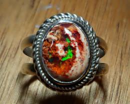 10.5sz. Mexican Matrix Cantera Multicoloured Fire Opal