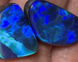 GEM OPAL DOUBLETS; 16.2 CTs of Gem Grade Natural Australian Opal Doublets #