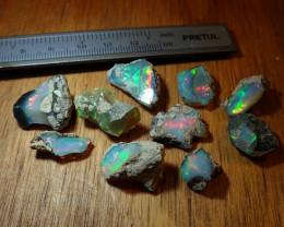 102cts Nice Rough Opal Rough Parcel Welo Mines Ethiopia Lot