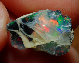 5cts Blazing Welo Rough  Opal Specimen COLLECTORS STONE ( Sand Included)