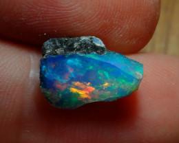 4cts Blue Blazing Welo Rough  Opal Cutting Rough