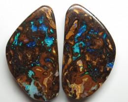 56.80ct Queensland Boulder Opal Pair Stone