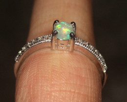 Natural Ethiopian Welo Opal 925 Silver Ring Size (6 US) 75