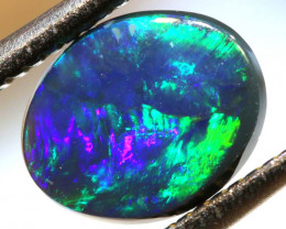 0.67 CTS  L.RIDGE BLACK OPAL  POLISHED STONE TBO-9438