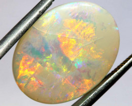 5.75 CTS  L.RIDGE WHITE OPAL  POLISHED STONE TBO-9451