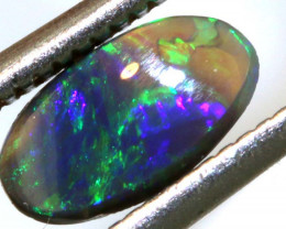 0.41 CTS  L.RIDGE DARK BASE OPAL  POLISHED STONE TBO-9468