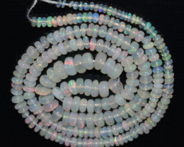31.70 Ct Natural Ethiopian Welo Opal Beads Play Of Color