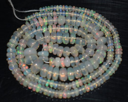37.05 Ct Natural Ethiopian Welo Opal Beads Play Of Color