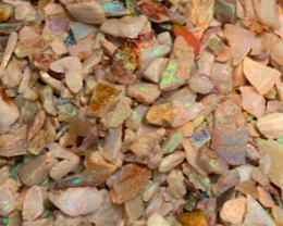 Parcel of Bright Australian Coober Pedy Rough Opal Baby Chips (3473)