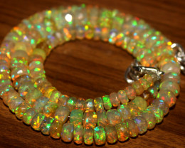 72 Crt Natural Ethiopian Welo Fire Faceted Opal Beads 5