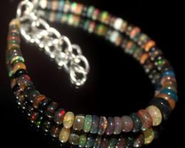 25 Crt Natural Ethiopian Welo Smoked Opal Beads Bracelet 555