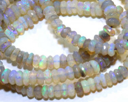 61.CTS  L RIDGE CRYSTAL OPAL FACETED BEADS STRAND TBO-9518