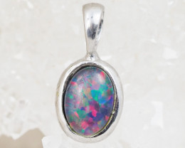 Cute Opal Triplet set in Silver Pendant  OPJ222