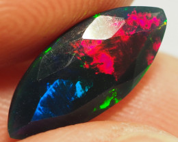 1.85CT ETHOPIAN FACETED TREATED OPAL WITH STUNNING PATTERNS NN494
