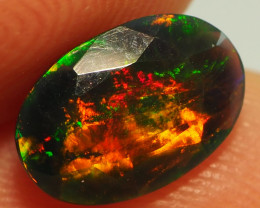 1.25CT ETHOPIAN FACETED TREATED OPAL WITH STUNNING PATTERNS NN497