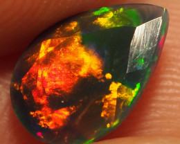 1.00CT ETHOPIAN FACETED TREATED OPAL WITH STUNNING PATTERNS NN498