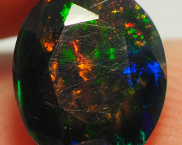 1.50CT ETHOPIAN FACETED TREATED OPAL WITH STUNNING PATTERNS NN500