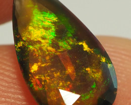 1.35CT ETHOPIAN FACETED TREATED OPAL WITH STUNNING PATTERNS NN501