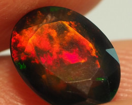 1.40CT ETHOPIAN FACETED TREATED OPAL WITH STUNNING PATTERNS NN503
