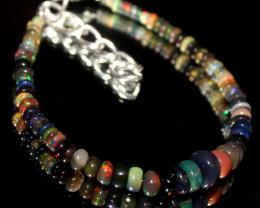 23 Crt Natural Ethiopian Welo Smoked Opal Beads Bracelet 554
