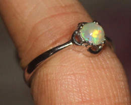 Natural Ethiopian Welo Opal 925 Silver Ring Size (7 US) 66